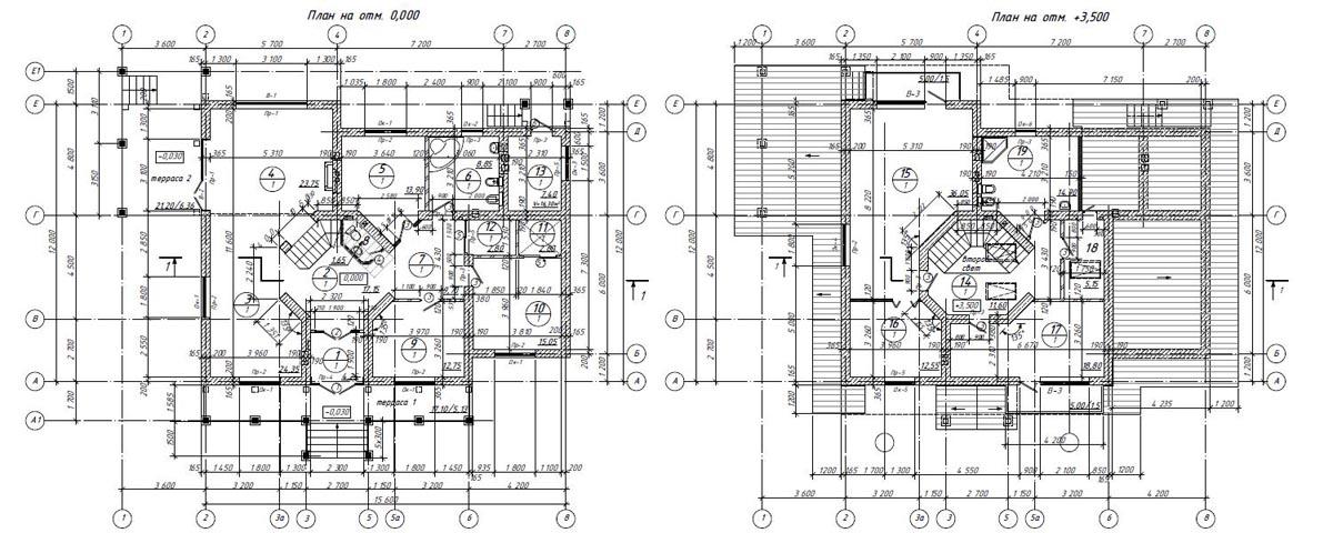 Кирпичный дом в стиле Шале 00-46