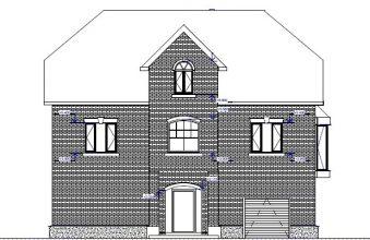 Двухэтажный дом с мансардой и гаражом - J231