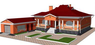 Кирпичный жилой дом 00-48