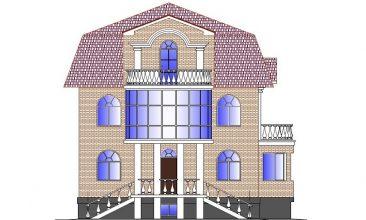 Коттедж с балконом 00-47