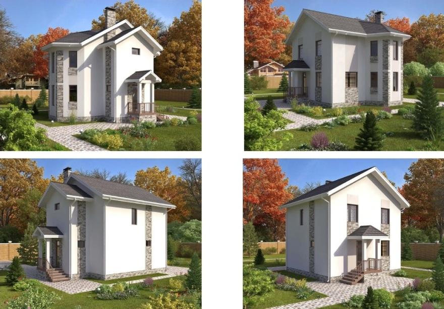 Индивидуальный жилой дом из газобетонных блоков типа - Aerostone