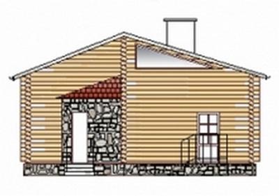 Деревянный дом с сауной 00-56