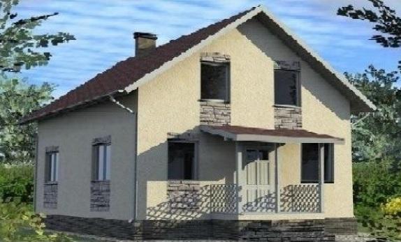 Индивидуальный жилой дом с мансардой 00-60