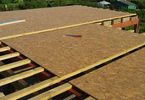 Укладка крыши OSB