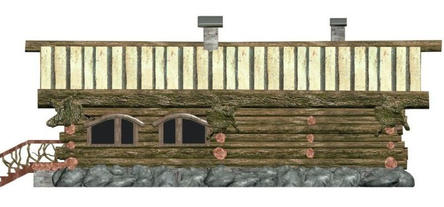 Баня из дикого бревна 00-08
