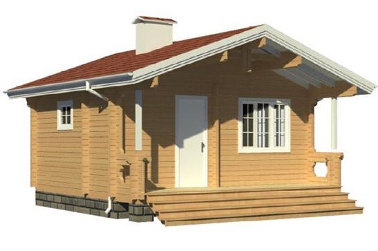 Деревянная баня проекта 00-18