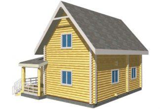Дом из бревна 00-59