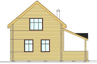 Гостевой дом с баней из бруса 00-57