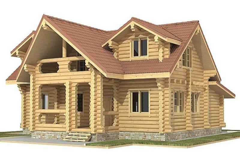 Одноэтажный дом с мансардным этажом 00-67