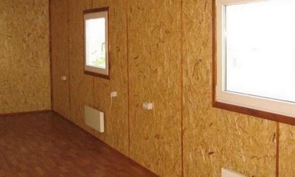 ОСП: внутренняя обшивка стен и перегородок